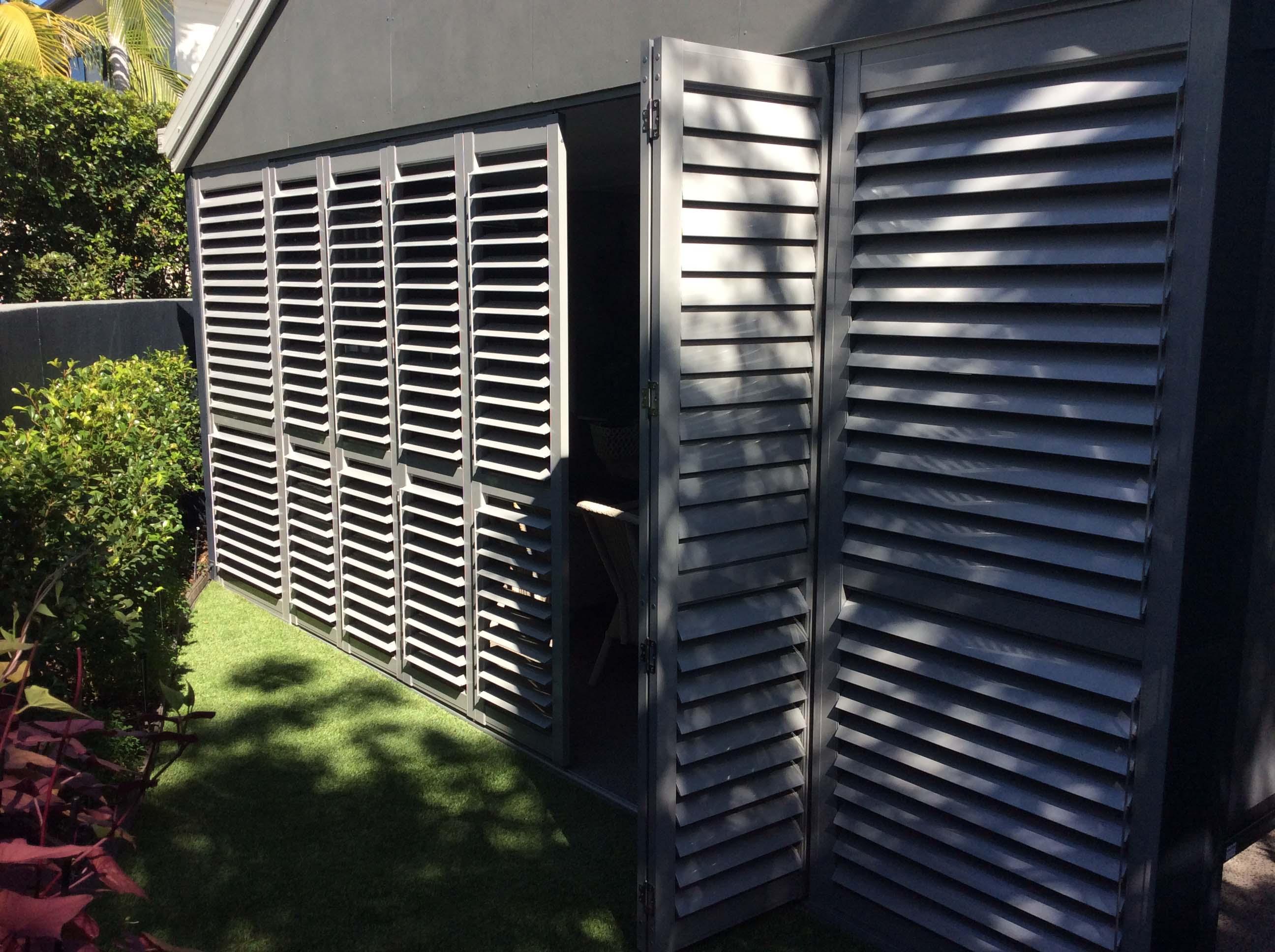 External Aluminium Plantation Shutters   DIY Shutter Kit Sets