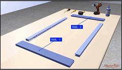 Fixed Blade Shutter Rail Assembly