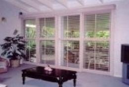 white full length shutters
