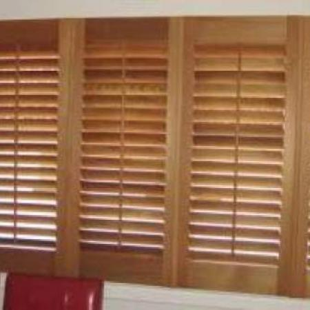 Alan 39 s plantation shutters in his home diy shutter kit sets - Plantation shutters kits ...