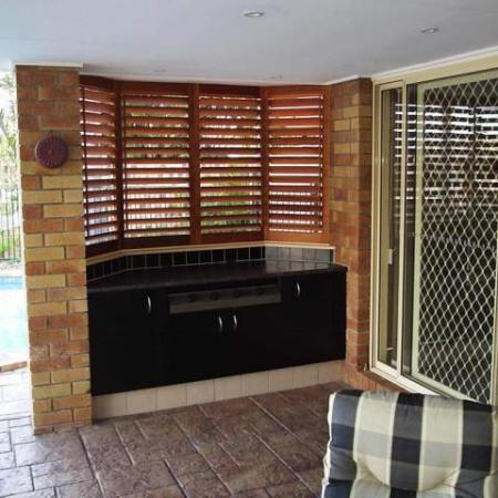 Plantation Shutters are perfect for blocking the elements be it rain or sunshine. Are you wondering how to finish a B-B-Q area? Plantation Shutters are the ultimate answer; with the style and practicality that come with Western Red Cedar Shutters, you can jazz up any space.