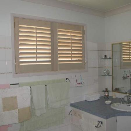 Lyn and harry 39 s plantation shutters are different diy shutter kit sets - Plantation shutters kits ...
