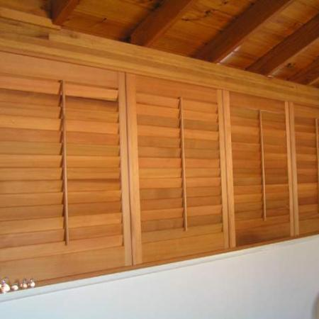 Plantation Shutters give a cosy alternative to metal blinds