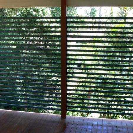 Renovation of a verandah is a great way to enhance the privacy of the area for outdoor entertaining. Lucas's veranda before and after is only a part of the transformation to the house which has used plantation shutters extensively throughout.