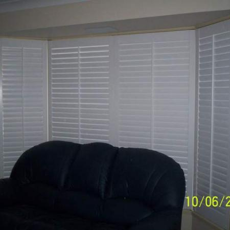 Even though painting shutters is labour intensive these examples of client painted shutters are very effective.