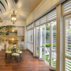 Aluminium Sliding Bi-fold Shutters add elegance to any home. These shutters are not only a stylish and functional addition to any home but the Aluminium Sliding Bi-fold Shutters increase light exposure and air-flow into any space.